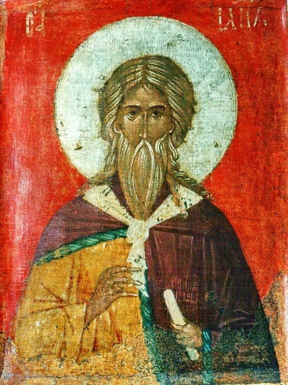 Святой Пророк Божий Илия. Русская икона XIV века.