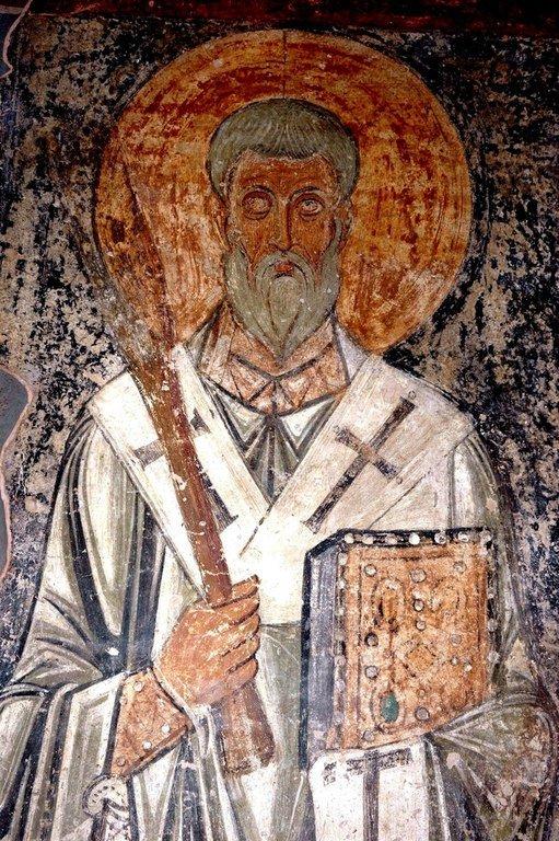 Священномученик Фока, Епископ Синопский. Фреска Софийского собора в Киеве. XI век.