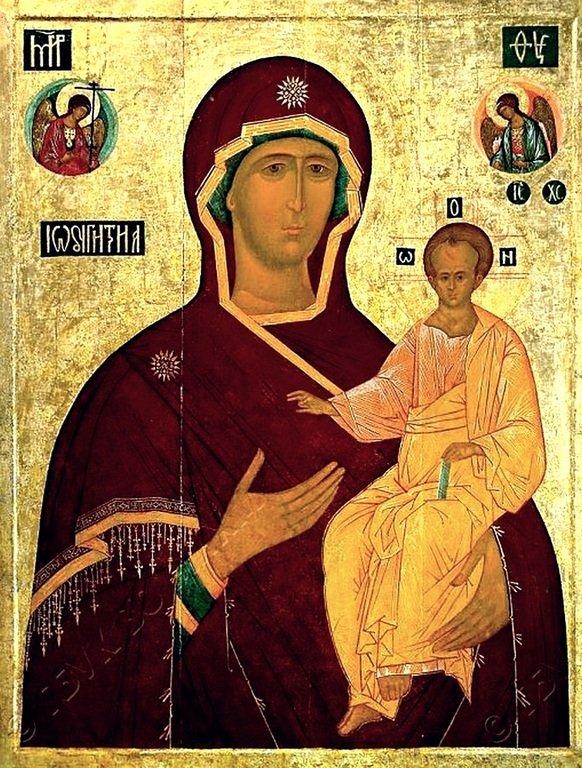 Смоленская икона Божией Матери. Первая половина XVI века.