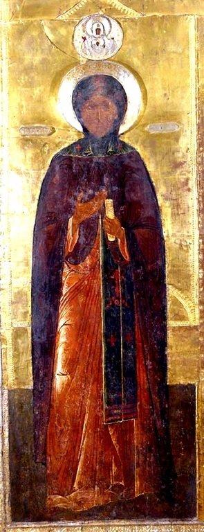 Святая Преподобная София Суздальская. Икона второй половины XVII века.
