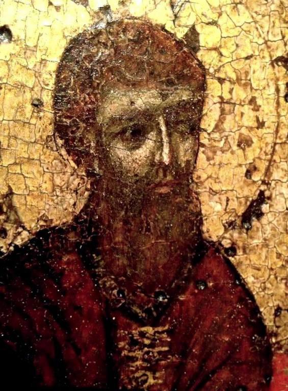 Святой Преподобный Феодосий Печерский. Фрагмент чудотворной Свенской-Печерской иконы Божией Матери. До 1114 года.