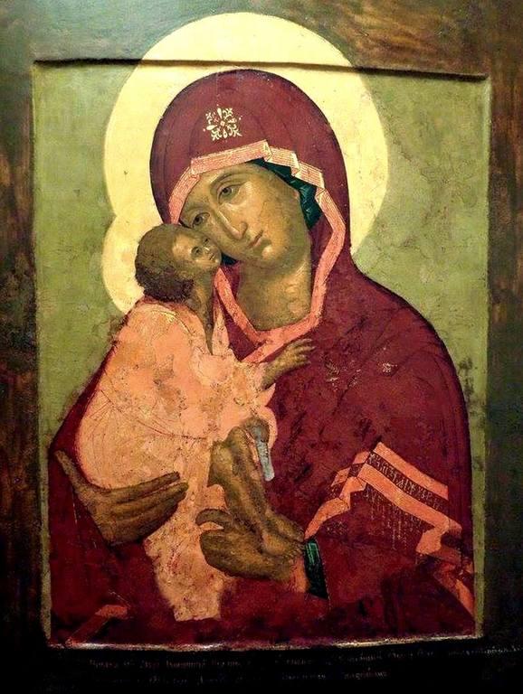 Донская икона Божией Матери. Иконописец Симон Ушаков. 1668 год.