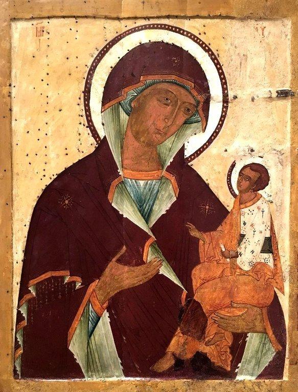 Грузинская икона Божией Матери. Новгород, XVI век.