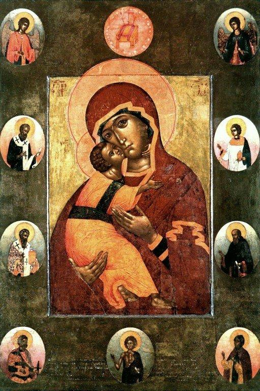 Владимирская икона Божией Матери. 1660 год.