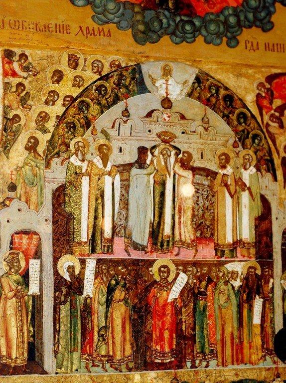 Обновление храма Воскресения Христова в Иерусалиме.