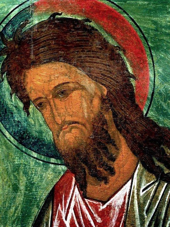 Святой Иоанн Предтеча. Икона. Псков, XVI век. Лик.