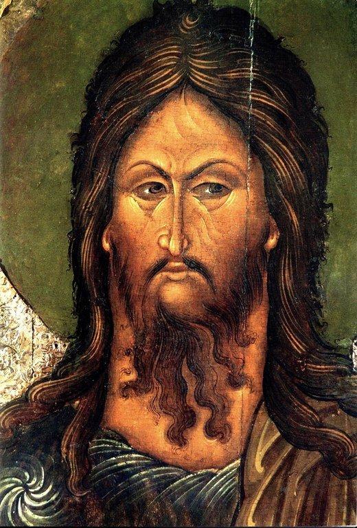 Святой Иоанн Предтеча. Икона. Псков, середина XVI века. Лик.