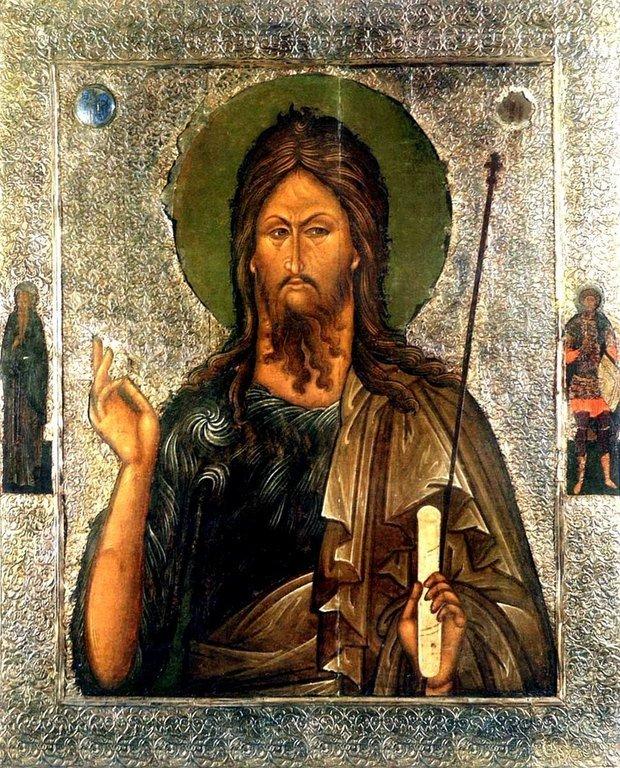 Святой Иоанн Предтеча. Икона. Псков, середина XVI века.