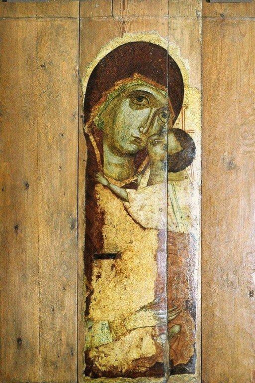 Чудотворная Подкубенская икона Божией Матери. XIV век.