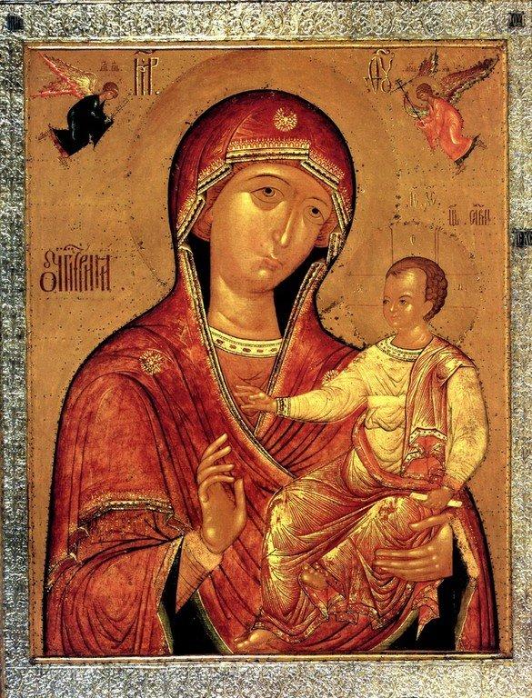 Седмиезерная икона Божией Матери. Строгановская школа иконописи, около 1606 года.