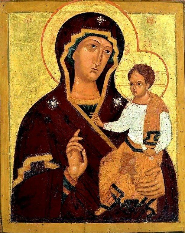 Седмиезерная икона Божией Матери. Россия, XVI век.