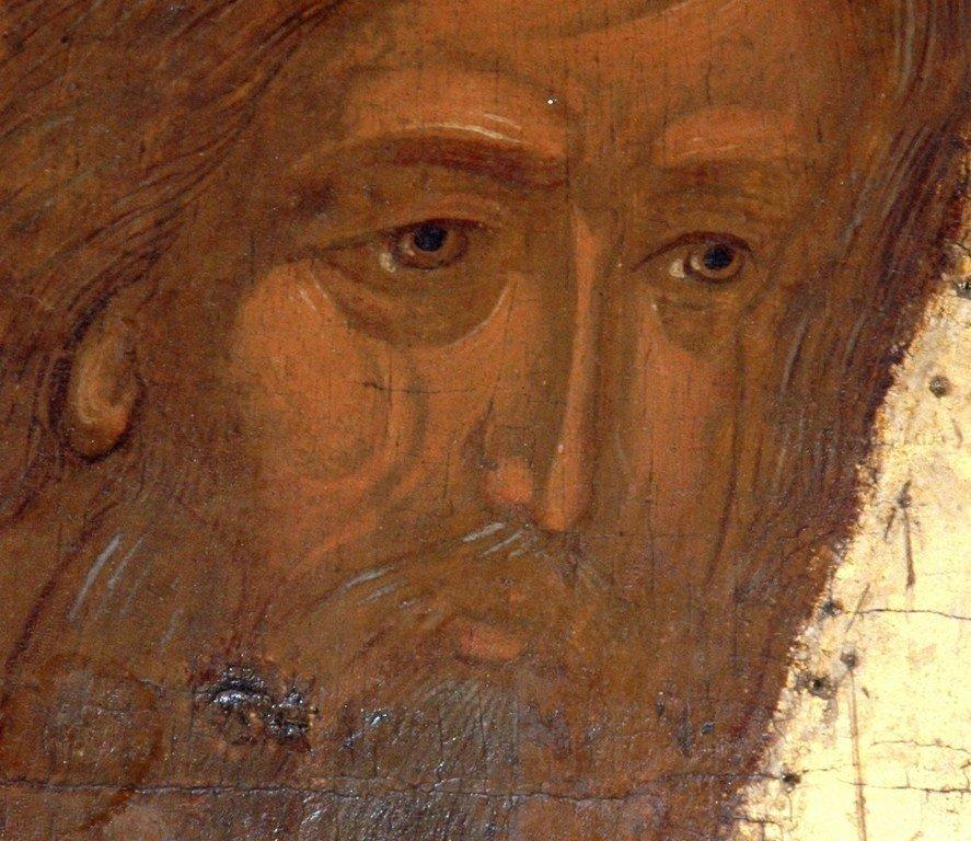 Святой Пророк Осия. Фрагмент иконы из пророческого ряда иконостаса Успенского собора Кирило-Белозерского монастыря. 1497 год.