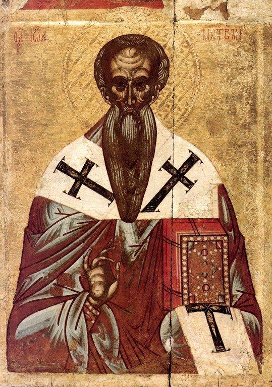 Святитель Иоанн Милостивый, Патриарх Александрийский. Икона. Новгород, начало XVI века.