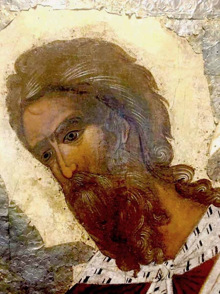Святой Пророк Божий Илия. Фрагмент новгородской иконы XVI века.