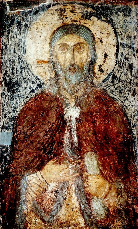 Святой Пророк Божий Илия. Фреска Софийского собора в Киеве. XI век.