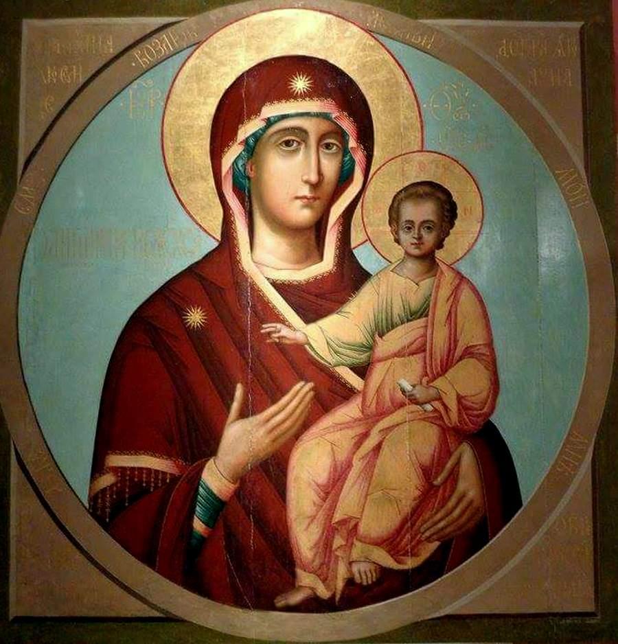 """Смоленская икона Божией Матери, именуемая """"Одигитрия"""". XVII век."""