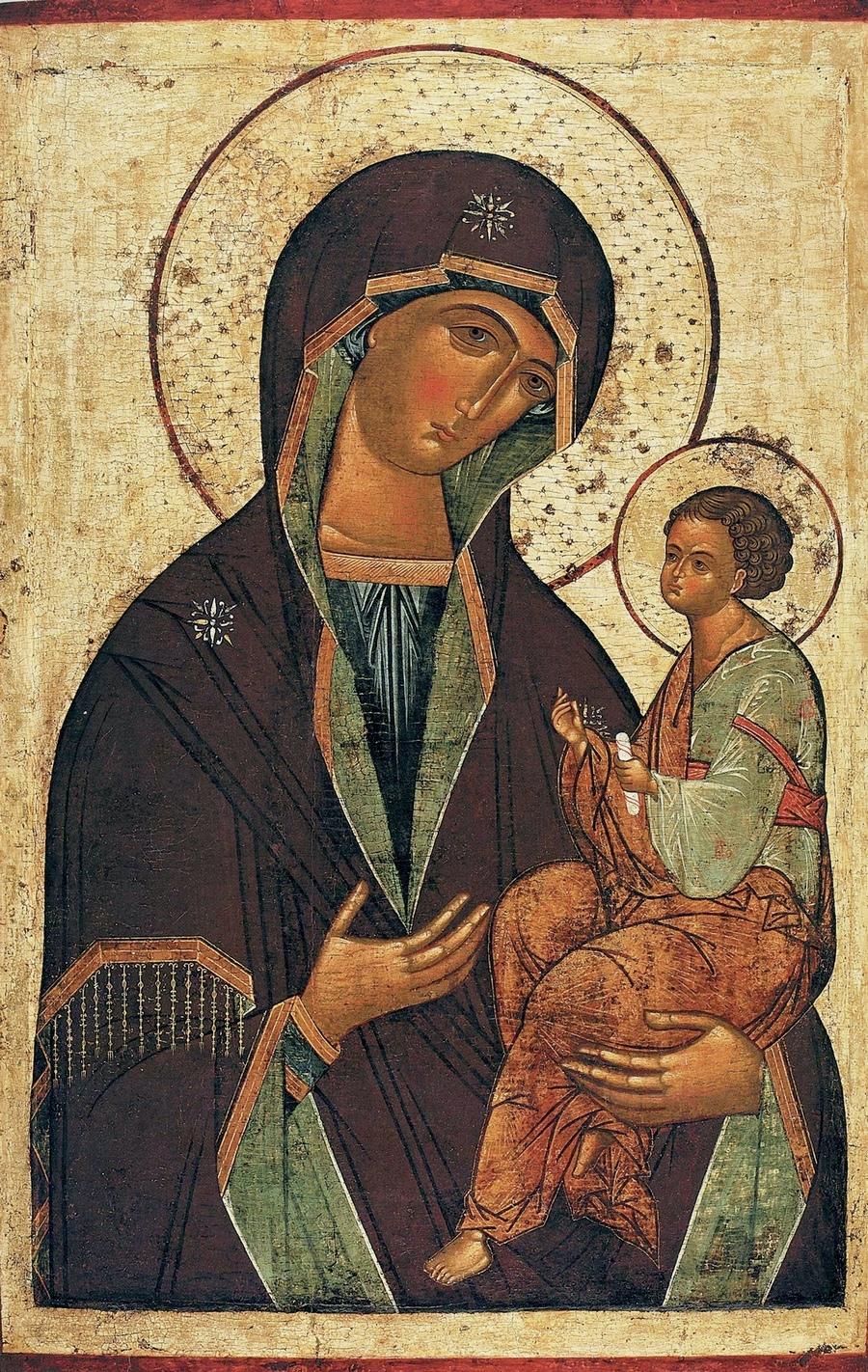 Грузинская икона Божией Матери. Новгород, конец XV века.