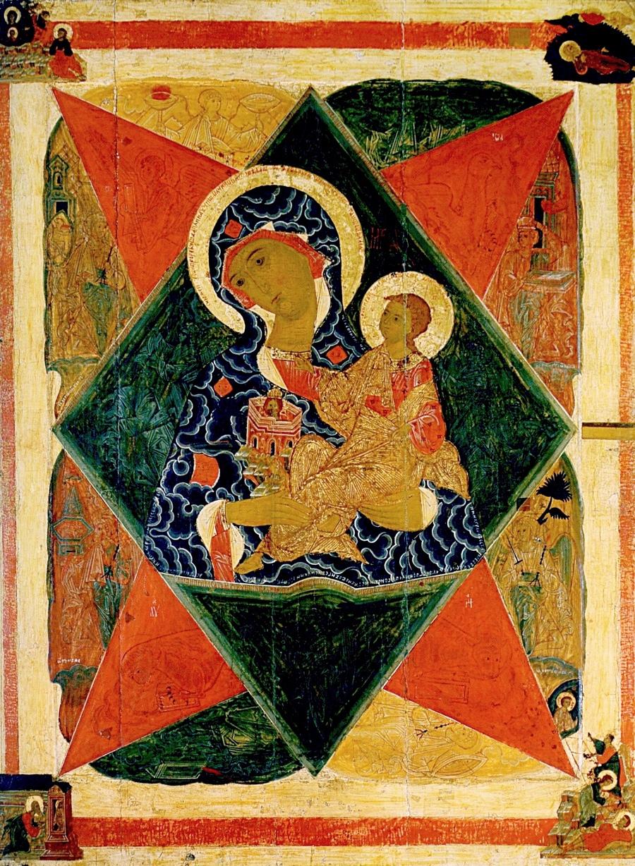 """Икона Божией Матери """"Неопалимая Купина"""". Ростов Великий, XVI век."""
