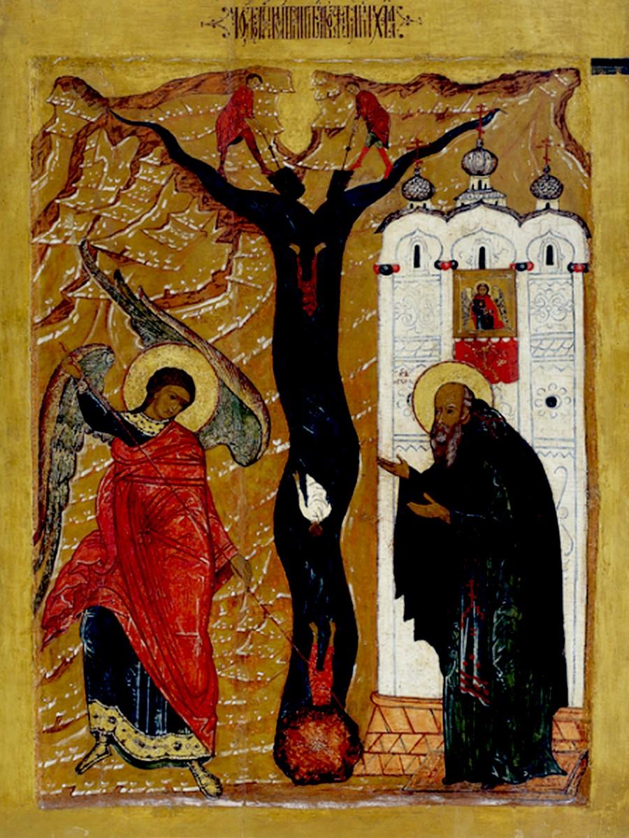Чудо Архистратига Михаила в Хонех. Икона. Ярославль, 1630 - 1340-е годы.
