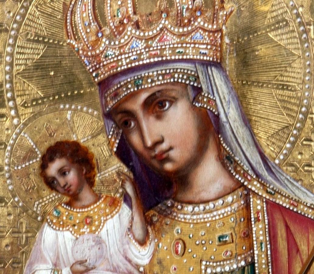 Молченская икона Божией Матери. Фрагмент.