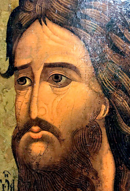 Святой Пророк, Предтеча и Креститель Господень Иоанн. Икона. Москва, 1560-е годы. Музей имени Андрея Рублёва. Фрагмент.