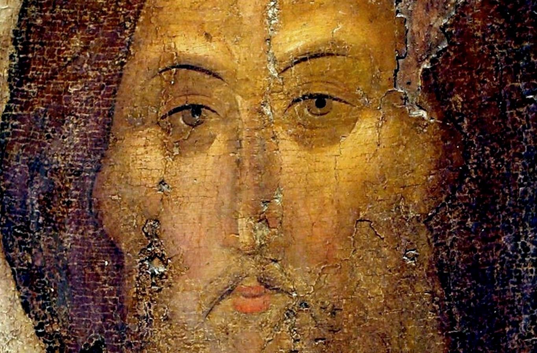 Лик Спасителя. Иконописец Преподобный Андрей Рублёв. Около 1400 года.