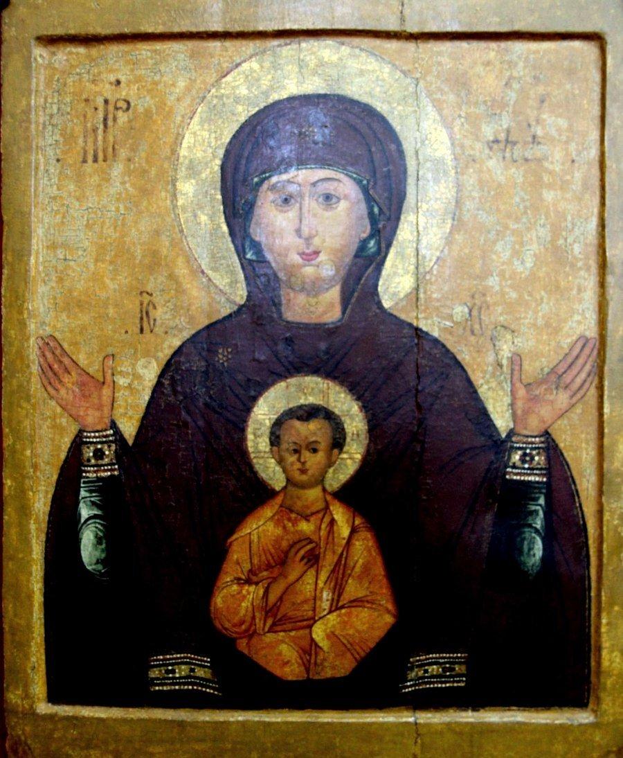 """Икона Божией Матери """"Знамение"""". Старинный русский список."""