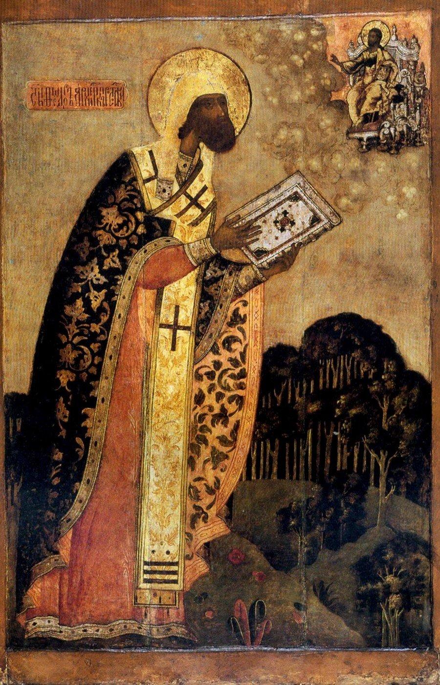 Святитель Феодор, Архиепископ Ростовский. Икона. Ростов Великий, XVII век.