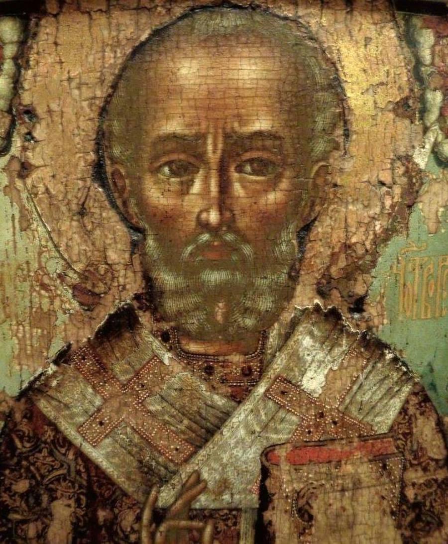 Святитель Николай, Архиепископ Мир Ликийских, Чудотворец. Иконописец Симон Ушаков. 1674 год.