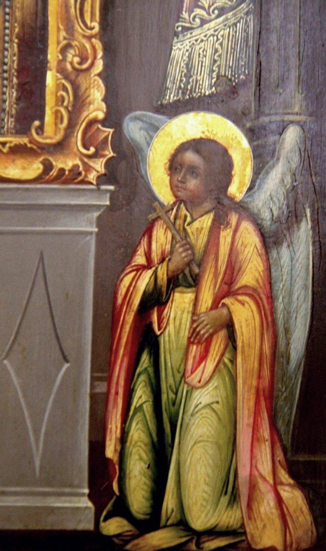 """Икона Божией Матери """"Нечаянная Радость"""". Фрагмент."""