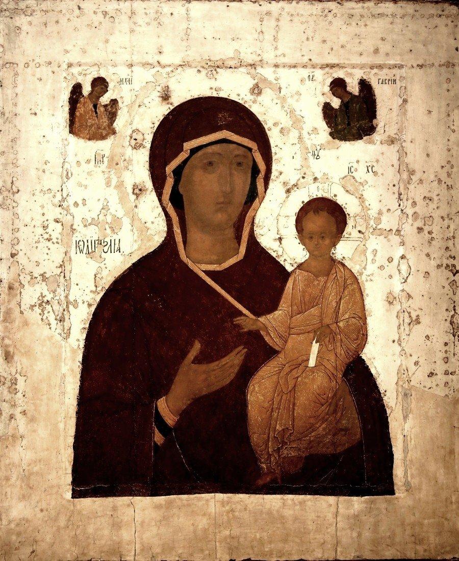 Богоматерь Одигитрия (Путеводительница). Икона Дионисия. Москва, 1482 год.