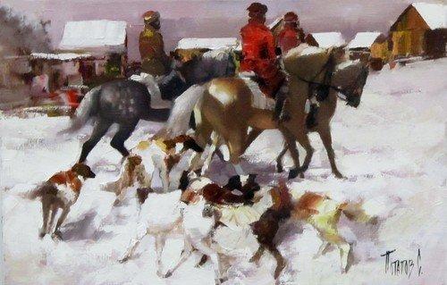 Потапов Сергей Борисович (род.05.12.1969 года). Зимний вечер.