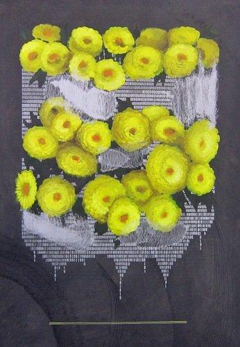 Андрей Шатилов. Жёлтые хризантемы. 2018 год.