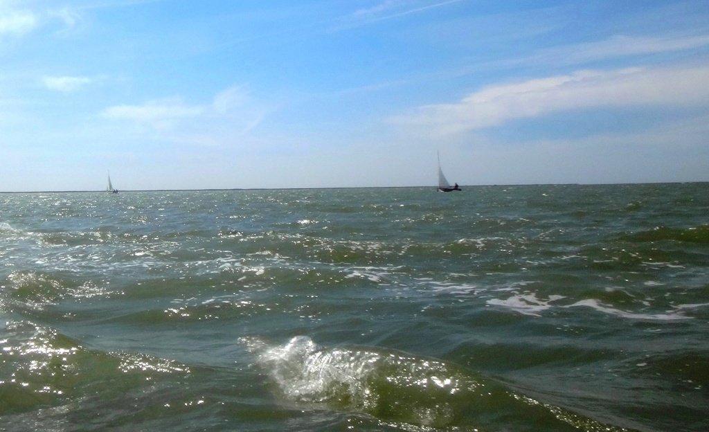 Разгулялось море, ясный день хорош, Парус на просторе - быстрота и дрожь....