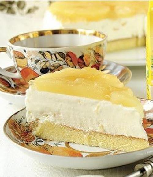 Творожный торт с белым шоколадом.