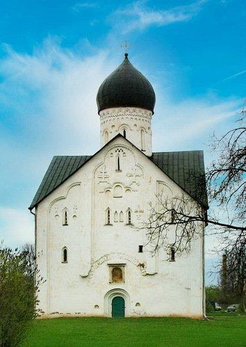 Церковь Преображения Господня на Ильине улице. Западный фасад.