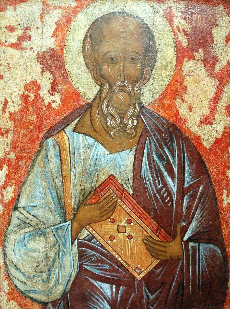 Святой Апостол и Евангелист Иоанн Богослов. Икона. Новгород, вторая четверть XV века.