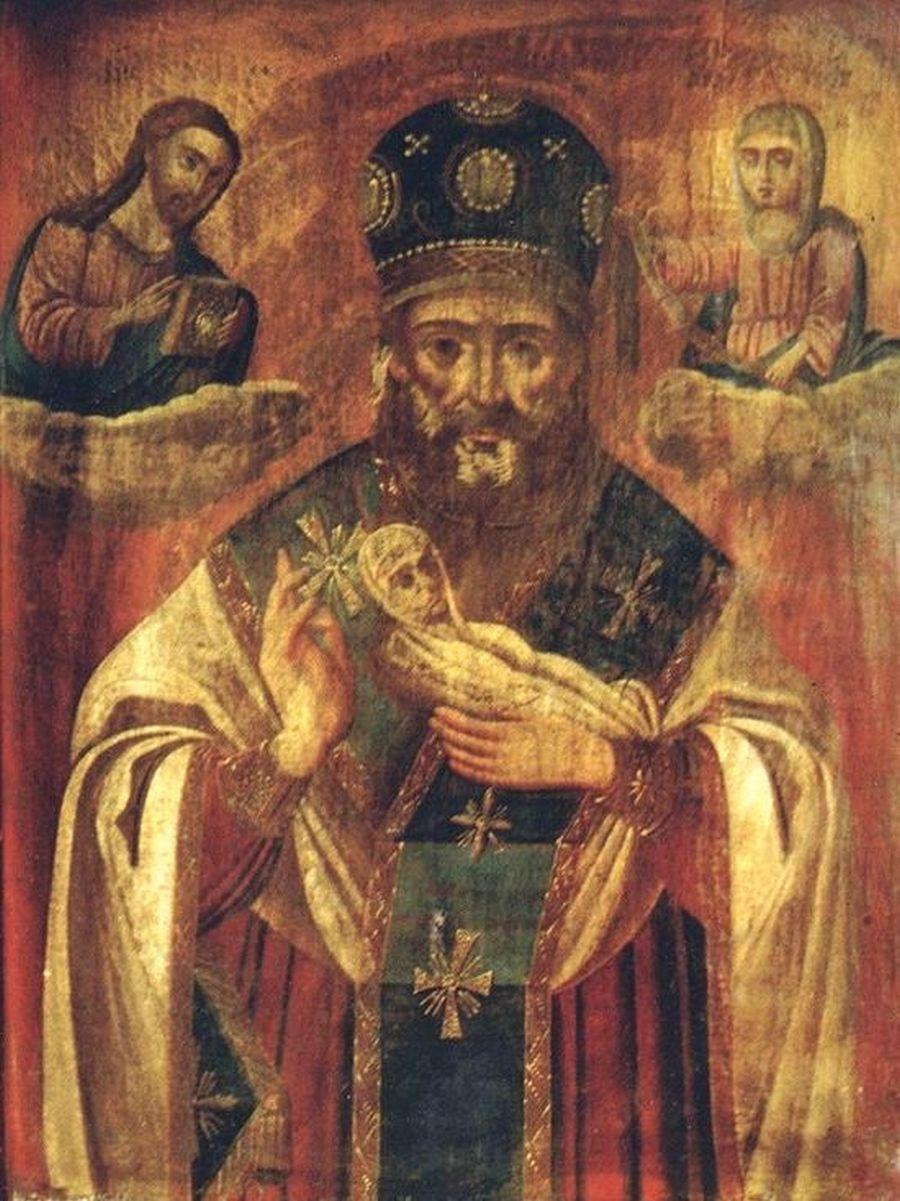 """Святитель Николай, Архиепископ Мир Ликийских, Чудотворец (""""Никола Мокрый"""")."""