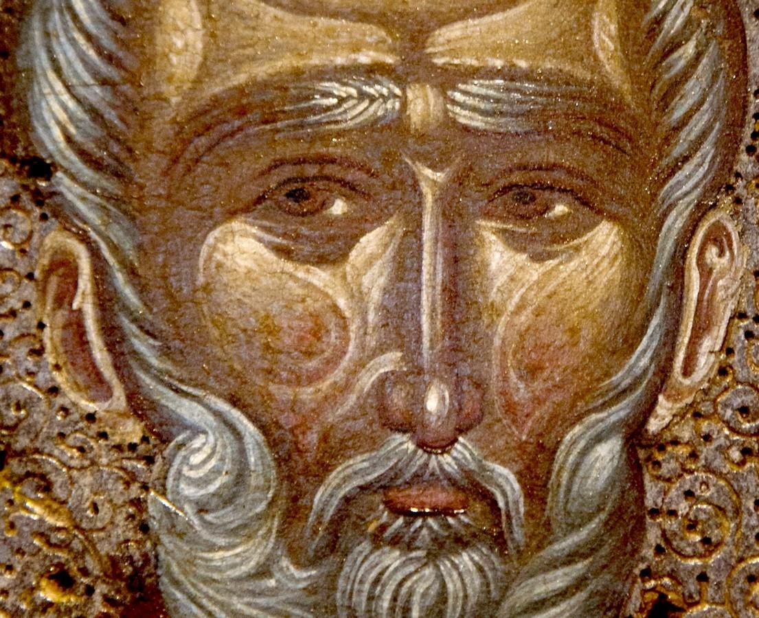 Святитель Николай Чудотворец, Архиепископ Мир Ликийских. Фрагмент византийской иконы. Византийский музей в Кастории, Греция.