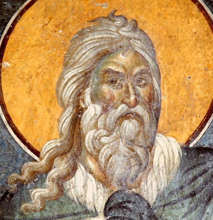 Святой Пророк Илия. Фреска церкви Святых Иоакима и Анны (Королевской церкви) в монастыре Студеница, Сербия. 1314 год.
