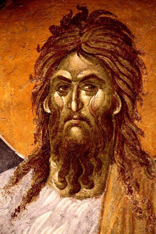 Святой Иоанн Предтеча. Фреска монастыря Грачаница, Косово, Сербия. Около 1320 года.