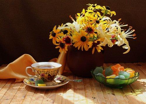 чай с мармеладом