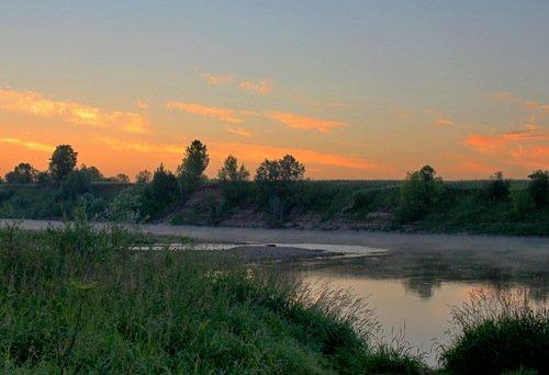 река Ока на рассвете
