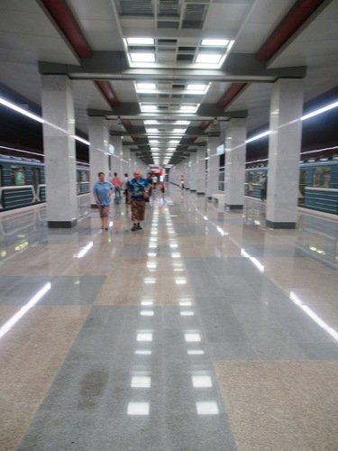 Новейшая станция метро - Прокшино. Открыта несколько дней назад.