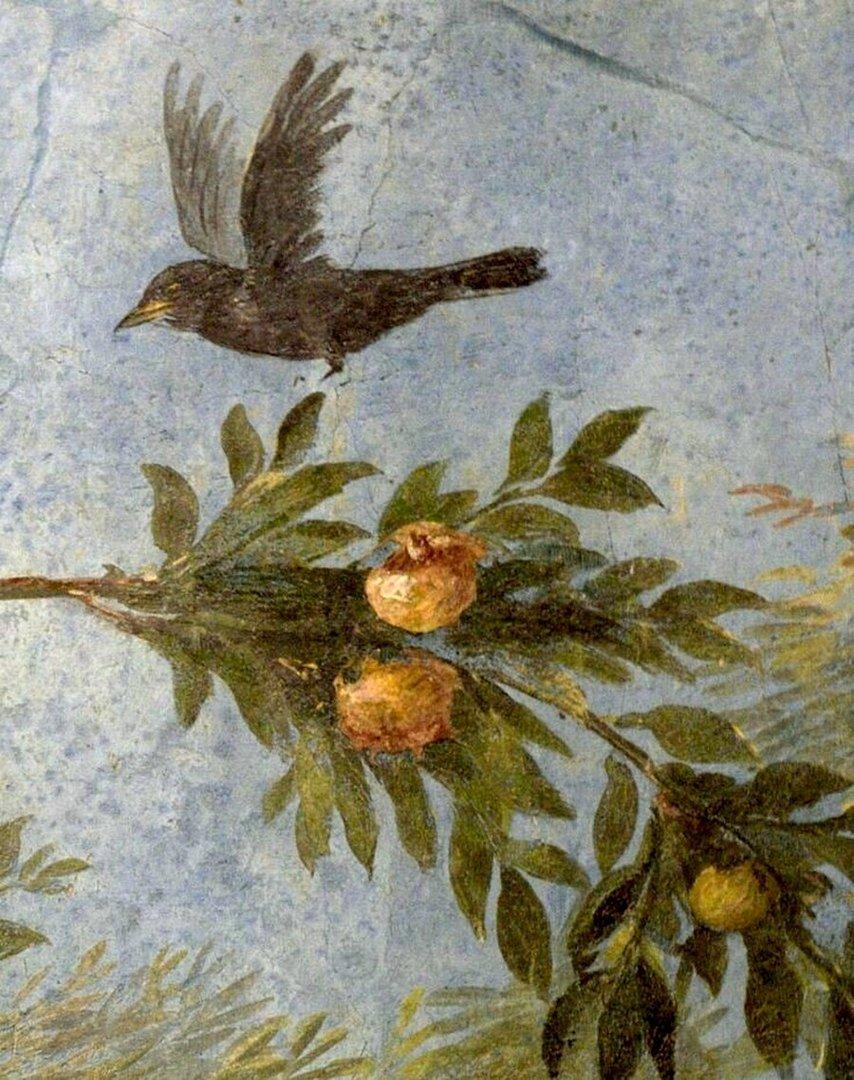 Древнеримская фреска. Помпеи.