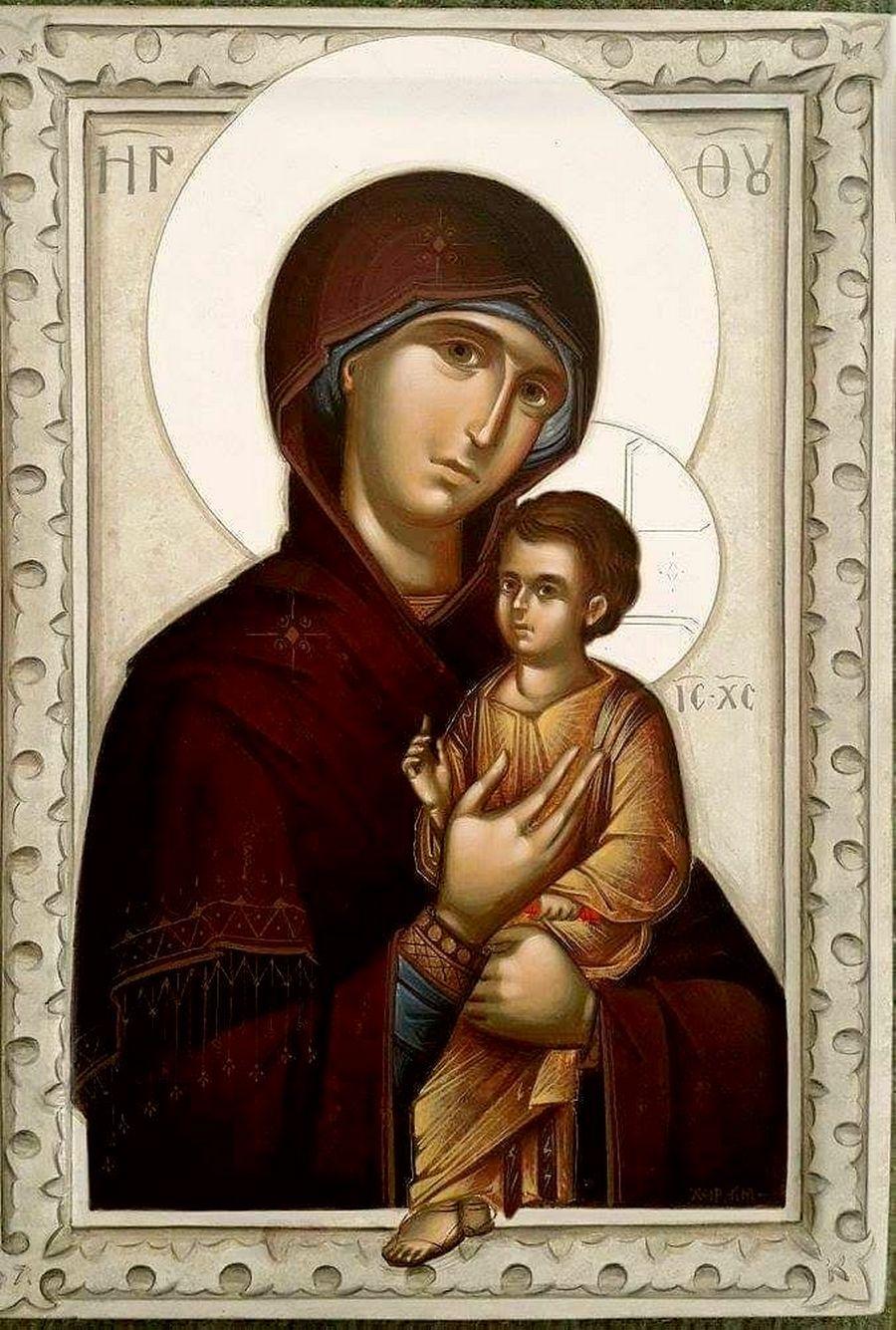 Пименовская икона Божией Матери. Современный греческий список.