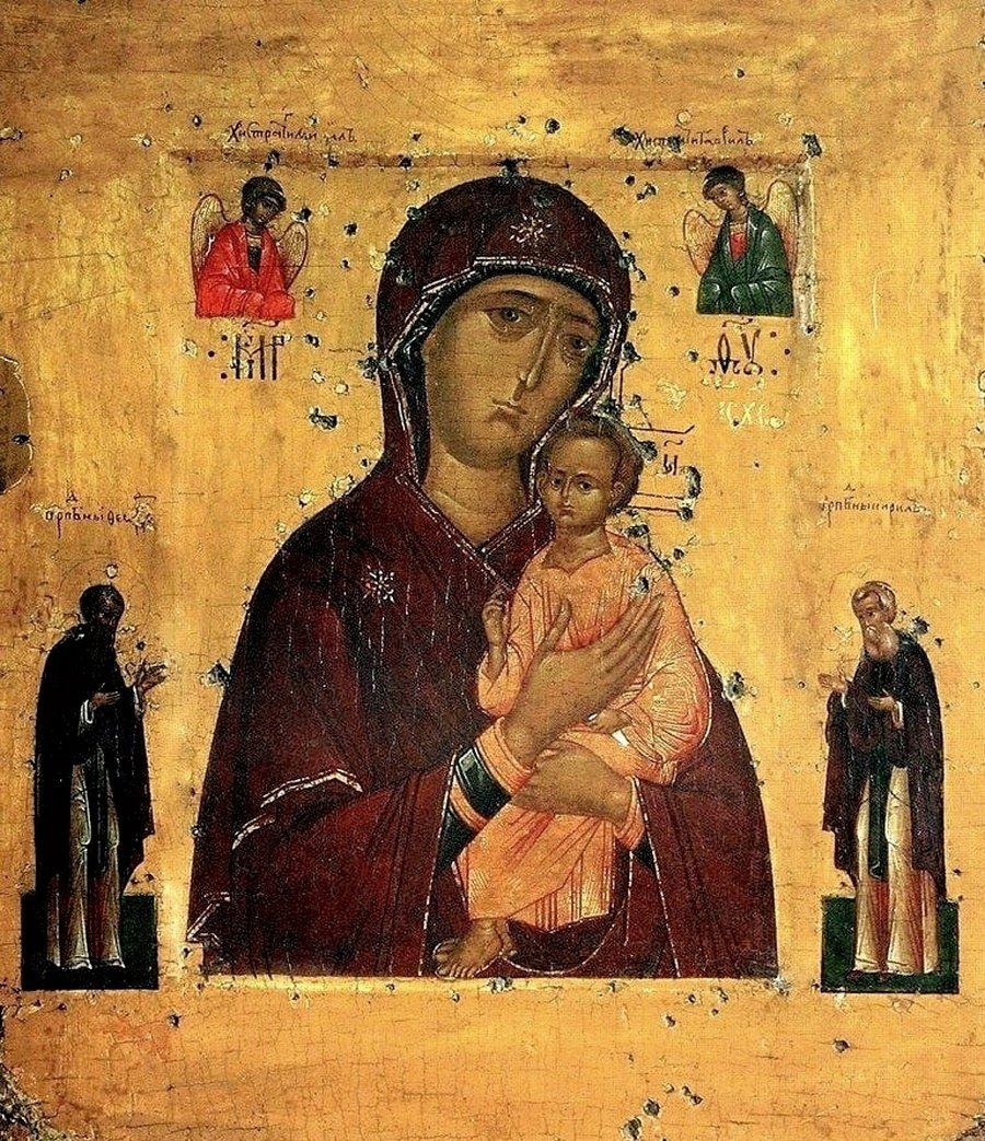 Пименовская икона Божией Матери. Россия, XVI век.