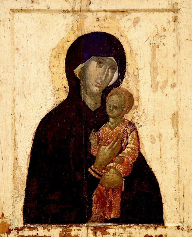 Чудотворная Пименовская икона Божией Матери. Византия, XIV век.