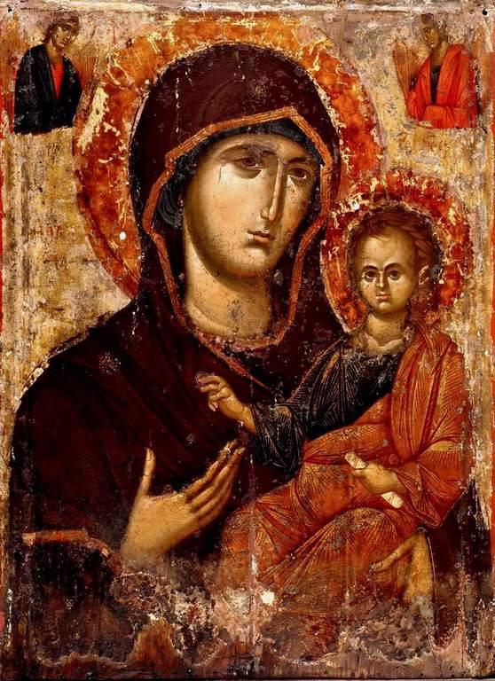 Чудотворная Нямецкая икона Божией Матери. Византия, XIV век. Монастырь Нямц, Румыния.