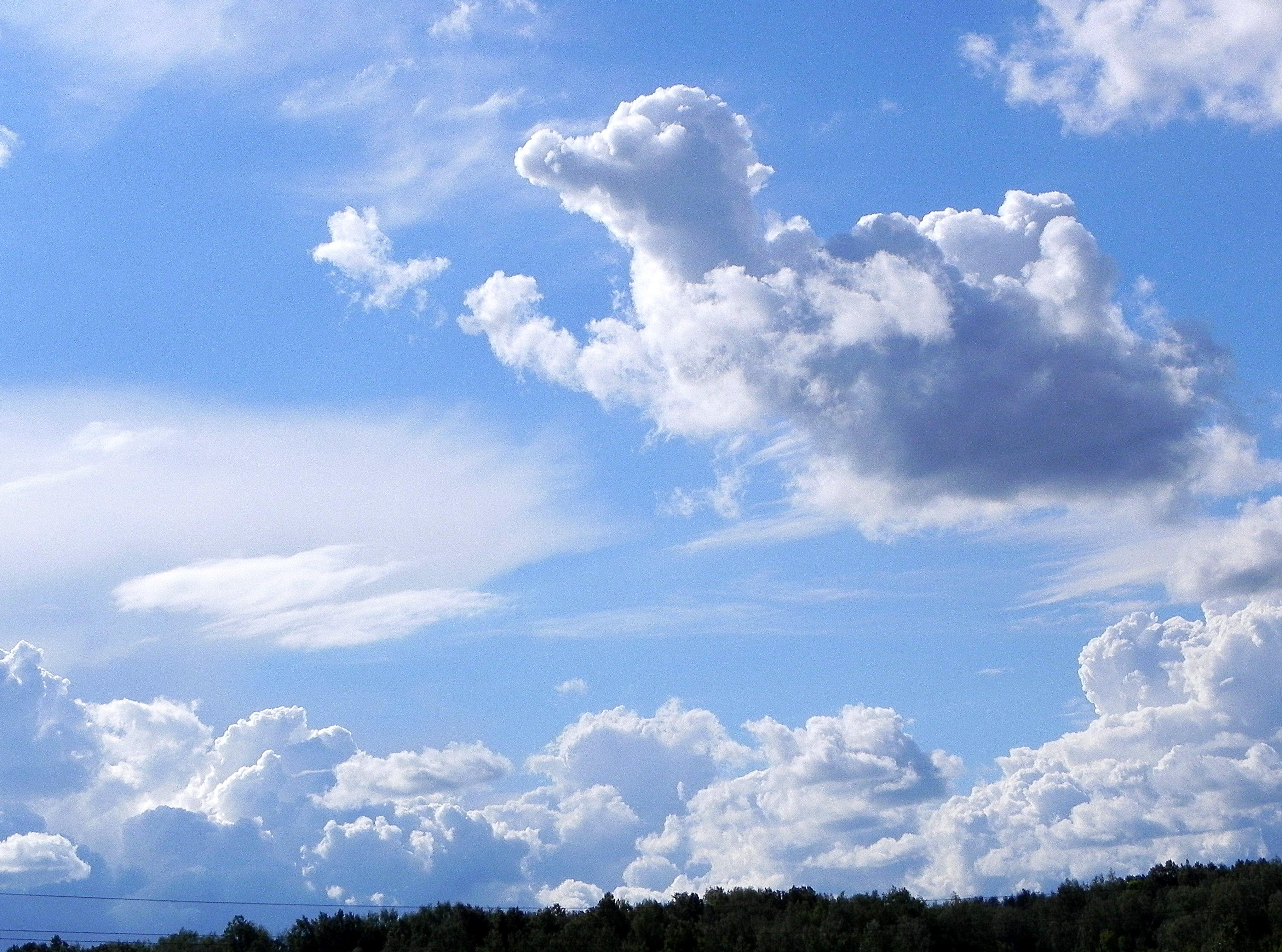 Картинка большого формата небо с облаками